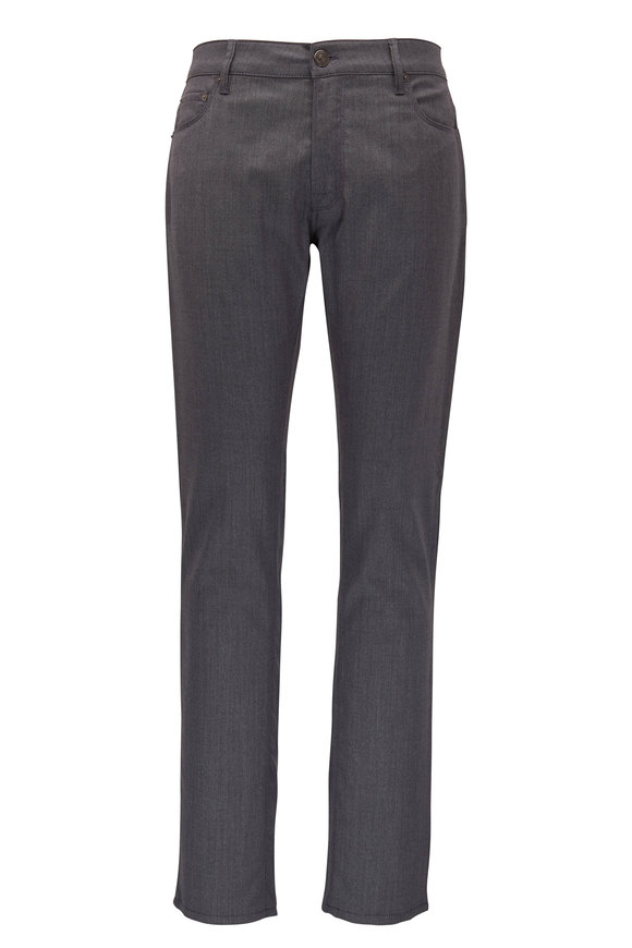 PT Torino Medium Gray Wool Blend Five Pocket Pant