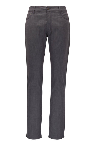 PT Torino - Medium Gray Wool Blend Five Pocket Pant