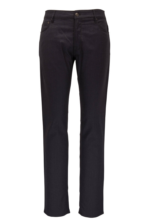 Charcoal Gray Wool Blend Five Pocket Pant