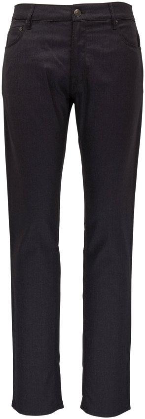 PT Torino Charcoal Gray Wool Blend Five Pocket Pant