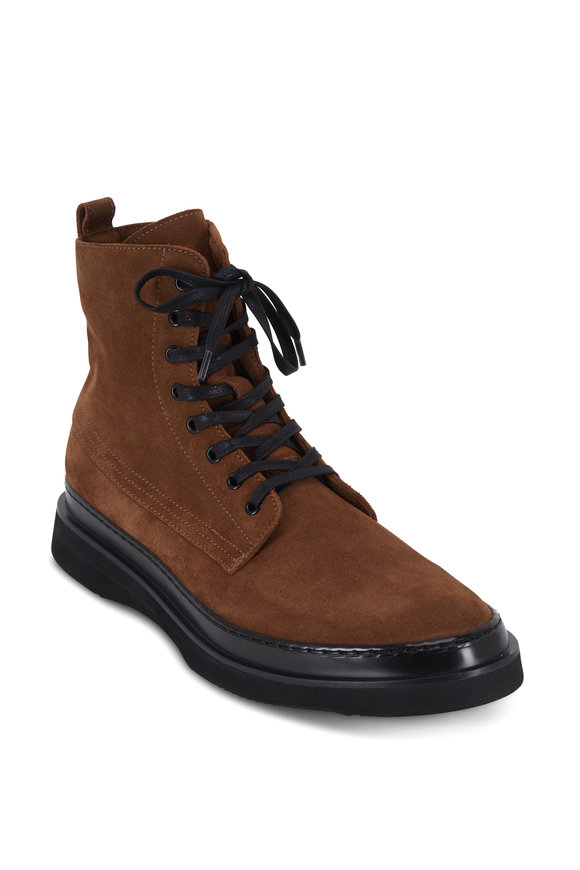 Aquatalia Corbin Suede Lace-Up Weatherproof Boot
