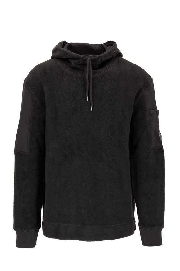 CP Company Gray Cotton Polar Fleece Hoodie