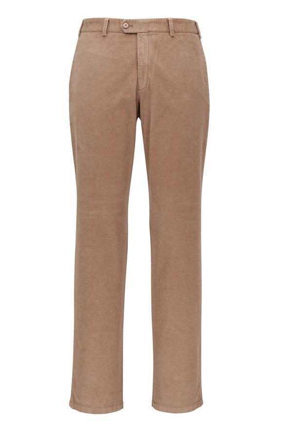 Hiltl Pierre Khaki Flat Front Pant