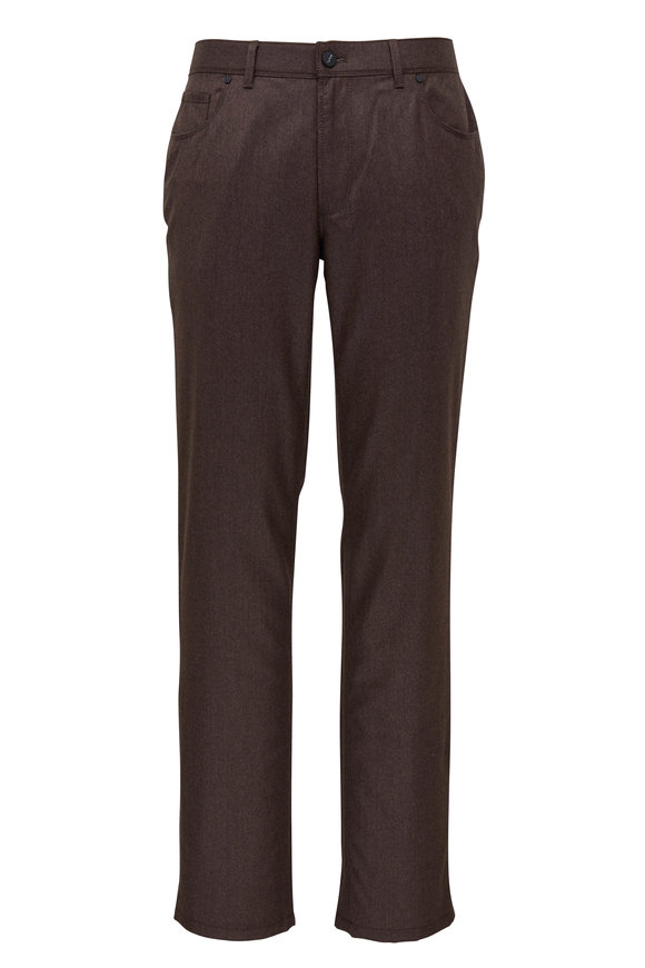 Hiltl Brown Flannel Five Pocket Pant