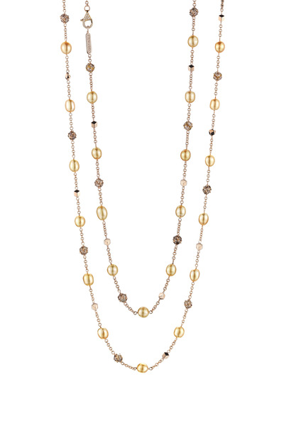 Paolo Costagli - Rose Gold Pearl & Diamond Necklace