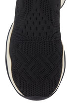 Fendi - Black High-Tech Logo Jacquard Sneakers