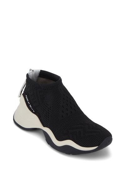 Fendi - Black High-Tech Logo Jacquard Sneakers