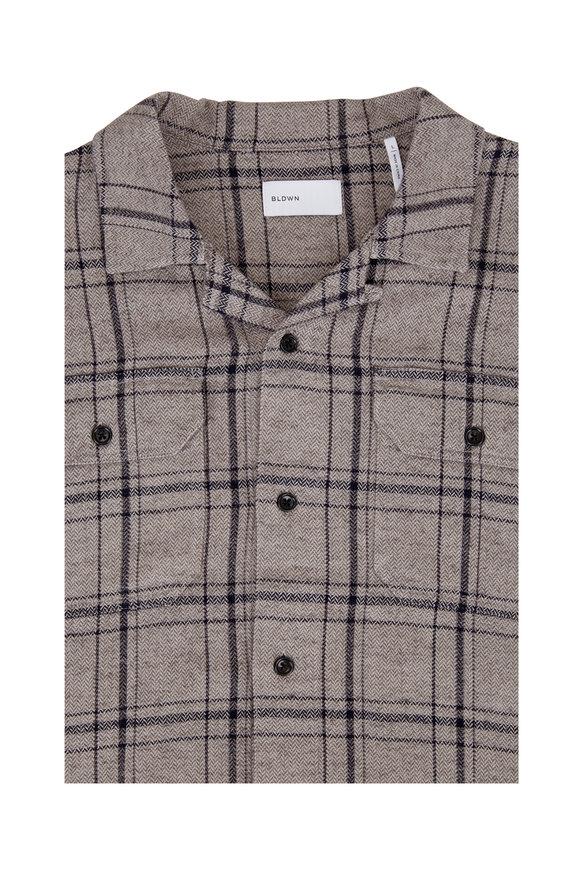 BLDWN Guetes Rust Plaid Button Down Shirt