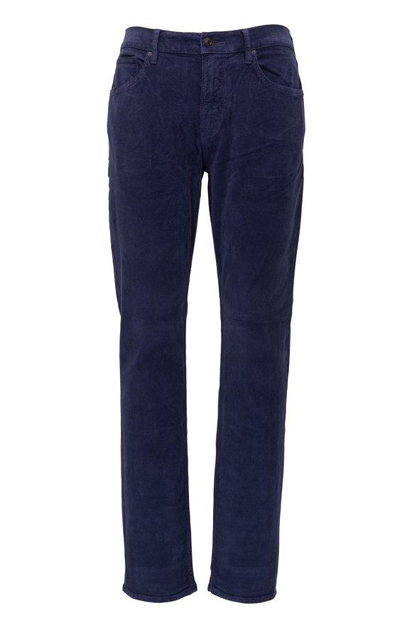 Hudson Clothing Blake Navy Slim Straight Corduroy Jean