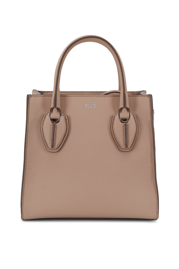 Tod's D-Tote Nude Grained Leather Mini Shopper