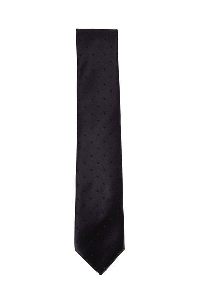 Charvet - Black Tonal Dot Silk Necktie