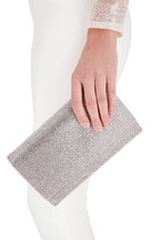Judith Leiber Couture - Fizzy Silver Crystal Chain Clutch