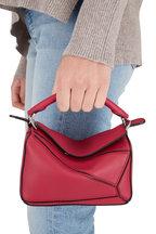 Loewe - Mini Puzzle Raspberry Leather Crossbody Bag