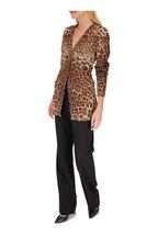 Dolce & Gabbana - Black Stretch Wool Straight Leg Pant