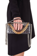 Tom Ford - Triple Chain Antiqued Silver Embossed Small Bag