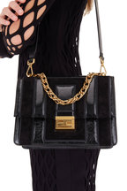 Fendi - Kan U Black Suede & Leather Multi Strap Bag