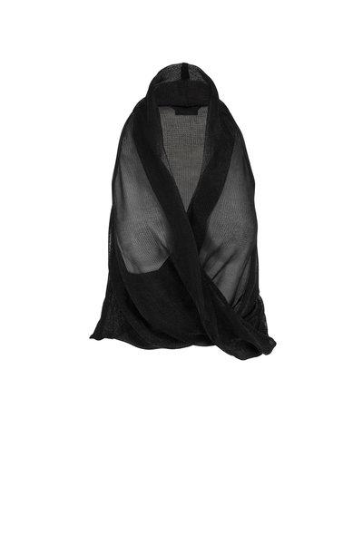 Tom Ford - Black Lurex Drape Halter Top