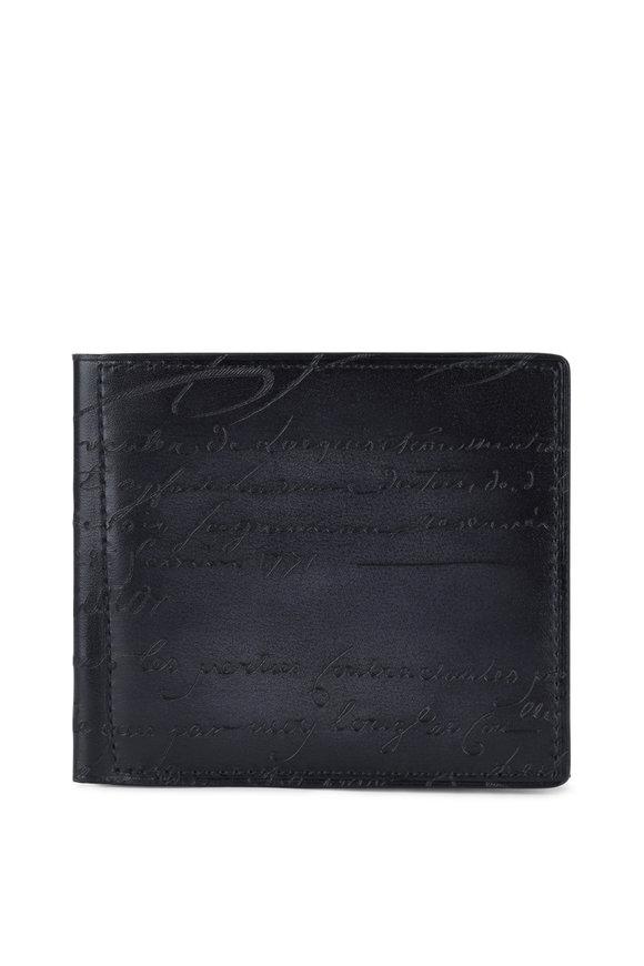 Berluti Assao Black Leather Bi-Fold Wallet