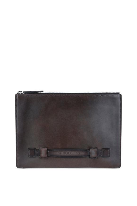 Berluti Brown Antiqued Leather Portfolio