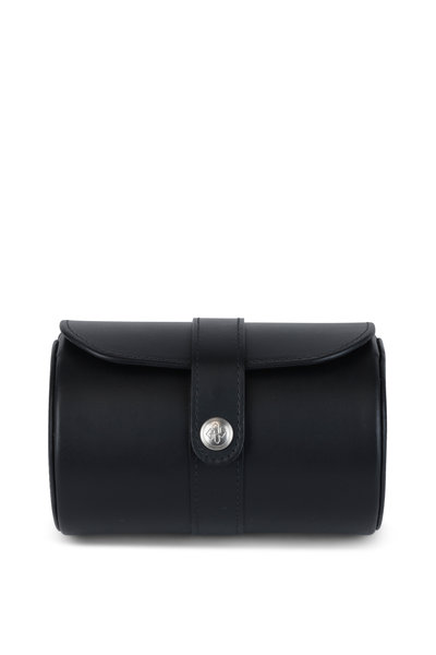 Ettinger Leather - Lifestyle Navy Blue Leather Double Watch Roll