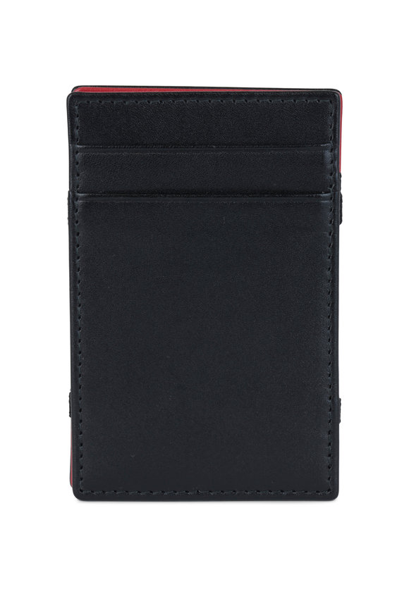 Ettinger Leather Black & Red Leather Magic Wallet