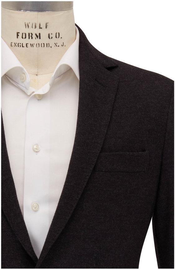 Maurizio Baldassari Dark Gray Wool Jersey Sportcoat