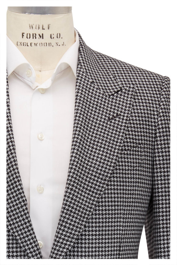 Tom Ford Shelton Gray Houndstooth Wool Sportcoat