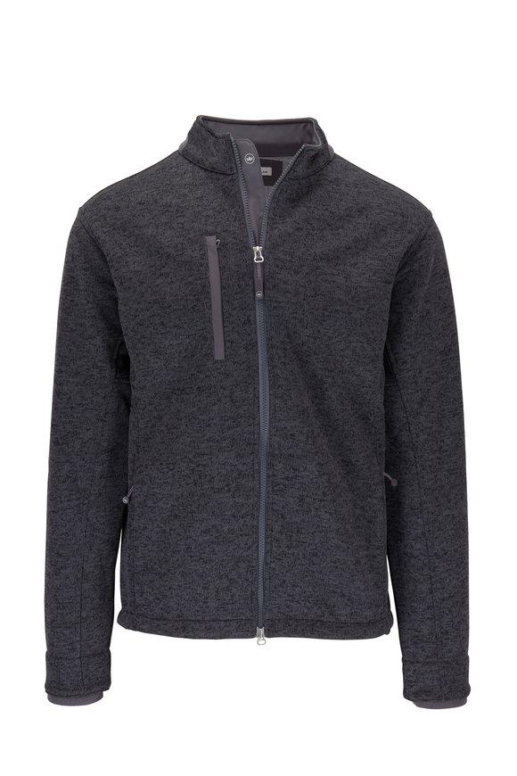 Peter Millar Legacy Charcoal Front Zip Fleece Jacket
