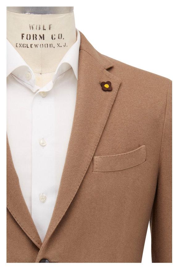 Lardini Tan Cashmere Two Button Sportcoat