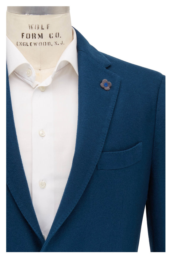 Lardini Teal Cashmere Two Button Sportcoat