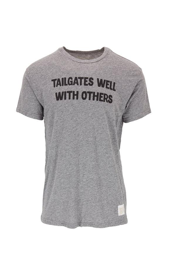 Retro Brand Gray & Navy Graphic T-Shirt