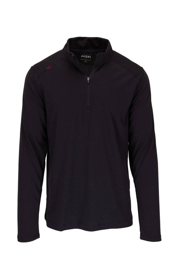 Rhone Apparel Sequoia Black Quarter-Zip Pullover