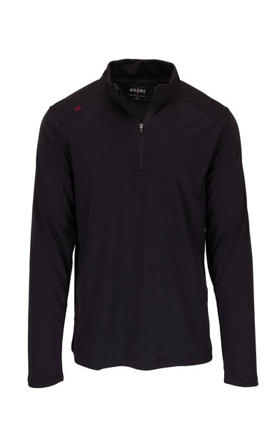Rhone Apparel - Sequoia Black Quarter-Zip Pullover