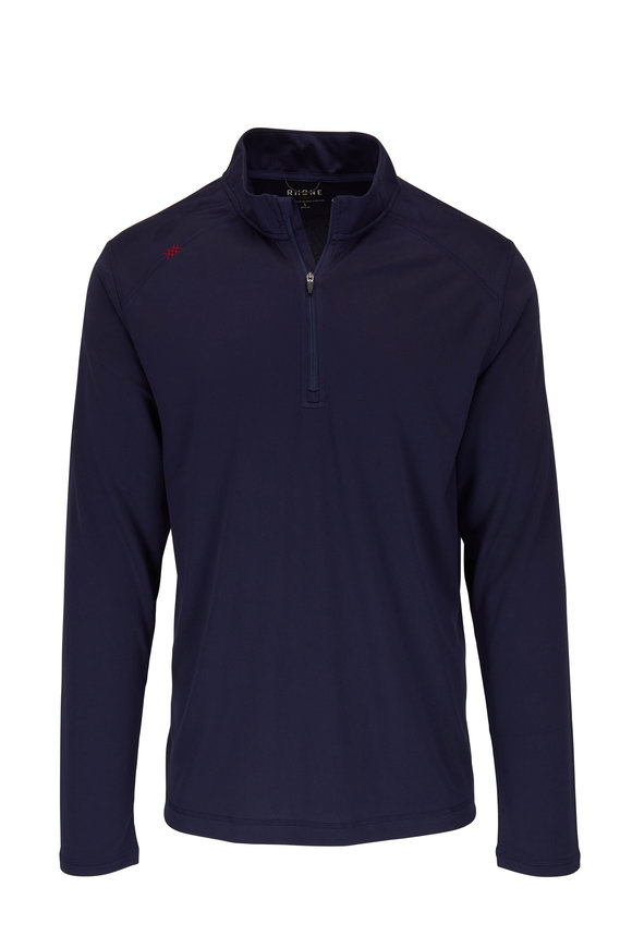 Rhone Apparel Sequoia Navy Blue Quarter-Zip Pullover