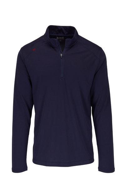 Rhone Apparel - Sequoia Navy Blue Quarter-Zip Pullover