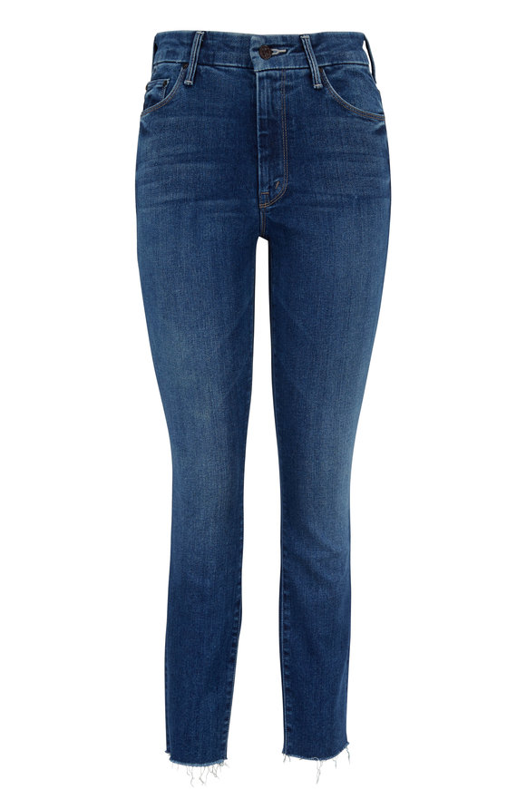 Mother Denim The Looker Night Clubbing Ankle Fray Jean