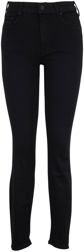 Mother Denim The Looker Black High-Rise Skinny Jean