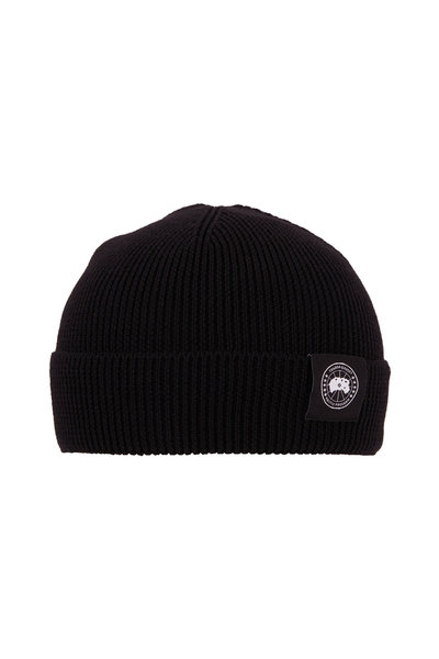 Canada Goose - Black Merino Wool Knit Beanie