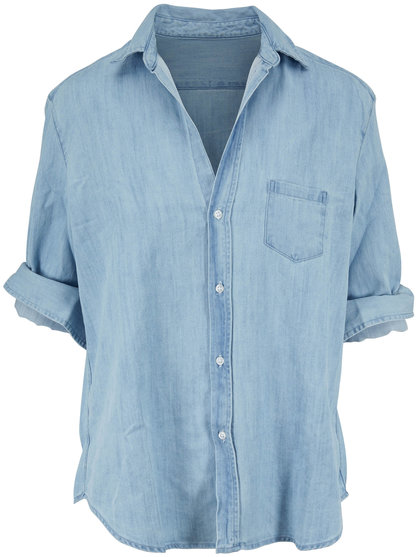 Frank & Eileen Eileen Washed Blue Denim Button Down