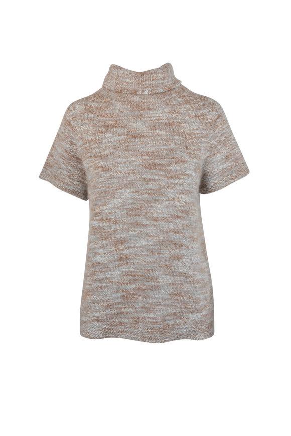 Kiton Natural Cashmere & Silk Turtleneck Sweater