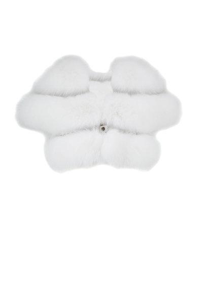 Viktoria Stass - White Fur & Studs Evening Bolero