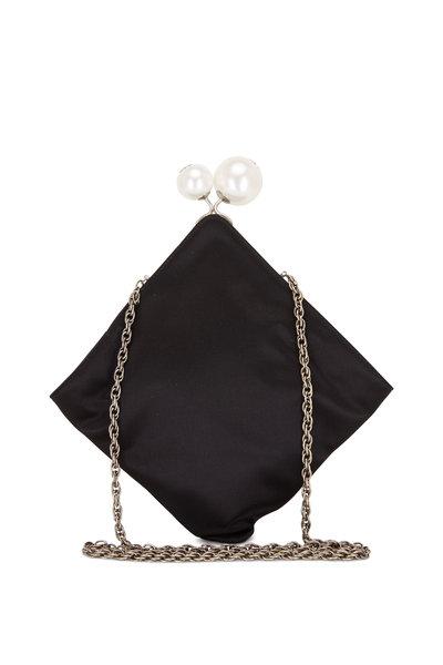 Rodo Firenze - Black Silk Pearl Closure Chain Crossbody
