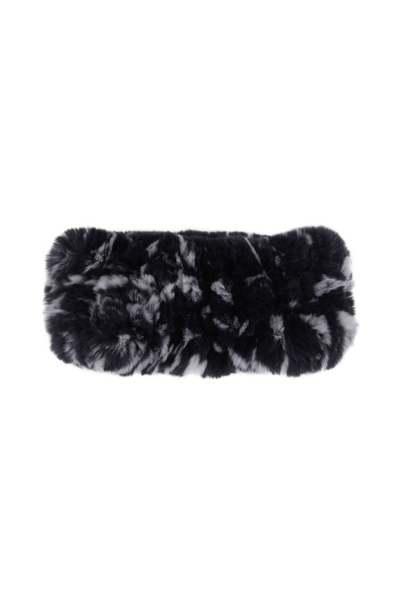 Viktoria Stass Black & White Fur Knitted Headband