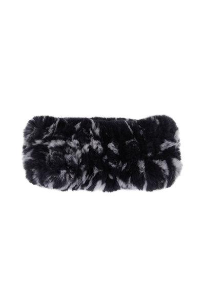 Viktoria Stass - Black & White Fur Knitted Headband