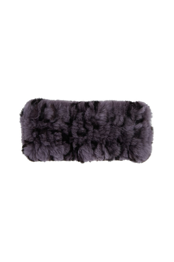 Viktoria Stass Gray & Black Fur Knit Headband