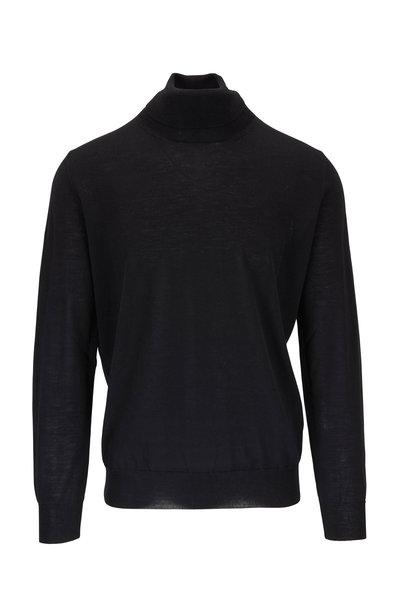 Canali - Black Extrafine Merino Wool Turtleneck