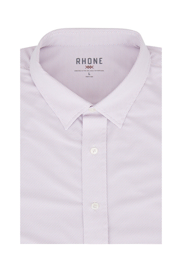 Rhone Apparel Commuter Red & White Sport Shirt