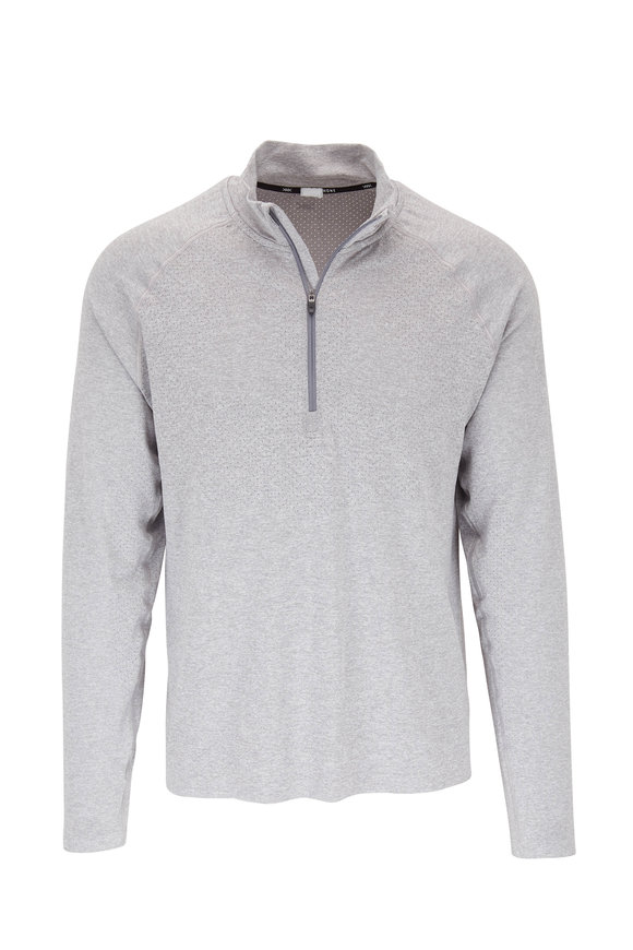 Rhone Apparel Versatility Gray Seamless Quarter-Zip Pullover