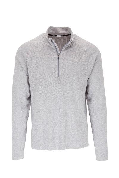 Rhone Apparel - Versatility Gray Seamless Quarter-Zip Pullover