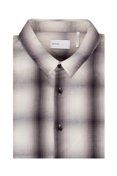 BLDWN - Arias Gray Plaid Button Down Shirt